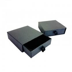 12 écrins cadeaux tiroir pour parure gris anthracite 9x9cm