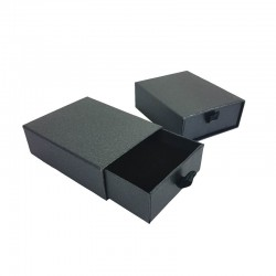 12 écrins bijoux tiroir pour parure gris anthracite 7x9cm
