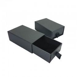 24 petits écrins tiroir gris anthracite pour parure 5x8cm