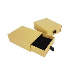 24 petits écrins tiroir kraft brun naturel pour parure 5x8cm