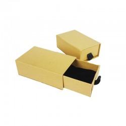 12 écrins bijoux tiroir kraft naturel pour parure 7x9cm