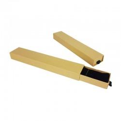 12 écrins tiroir à bracelets de couleur kraft naturel 4x21cm
