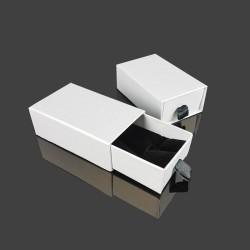 24 petits écrins tiroir blancs pour parure 5x8cm