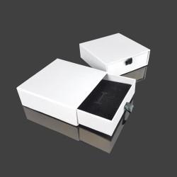 12 écrins cadeaux tiroir blancs pour parure 9x9cm