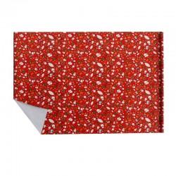 Lot de 2 rouleaux de papier cadeaux rouge motifs de noël enfant 70x100cm