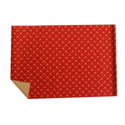 Lot de 2 rouleaux de papier cadeaux rouge motif tête de rennes 70x100cm