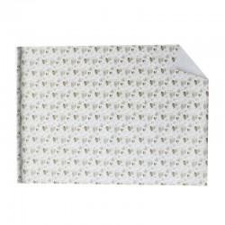 Lot de 2 rouleaux de papier cadeaux blanc motif de cœurs dorés 70x100cm