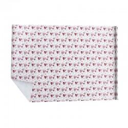 Lot de 2 rouleaux de papier cadeaux blanc motif de cœurs roses 70x100cm