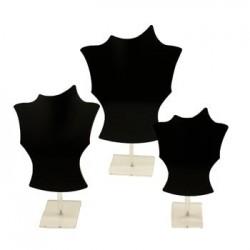 3 Bustes acrylique noirs - 2926