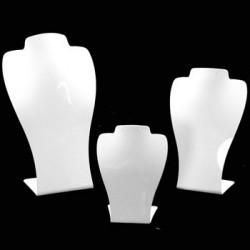 3 Bustes acrylique blancs - 2472