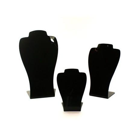 3 bustes acrylique noir - 2471