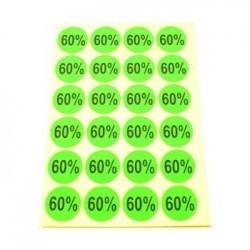 gommettes autocollantes 60% - 1863v