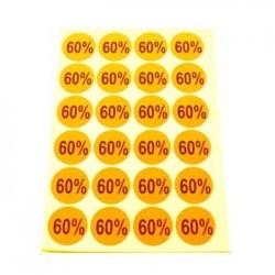 gommettes autocollantes 60% - 1863oc