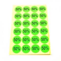 gommettes autocollantes 50% - 1864v