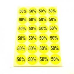 gommettes autocollantes 50% - 1864j