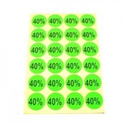 gommettes autocollantes 40% - 1865v