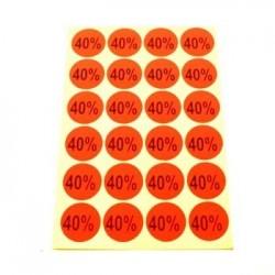 gommettes autocollantes 40% - 1865of