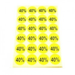 gommettes autocollantes 40% - 1865j