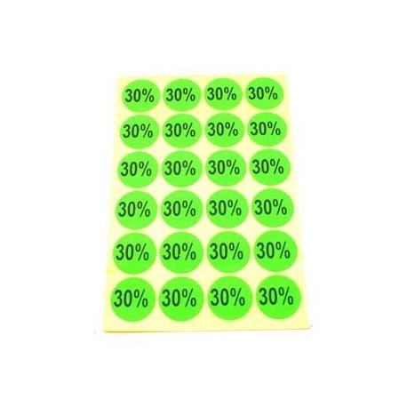 gommettes autocollantes 30% - 1866v