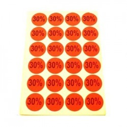 gommettes autocollantes 30% - 1866of