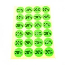 gommettes autocollantes 20% 1867v