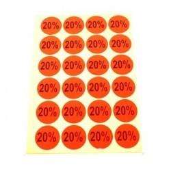 gommettes autocollantes 20% - 1867of