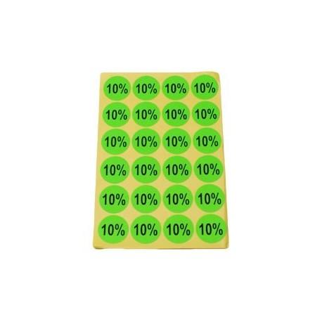 gommettes autocollantes 10% - 3411v