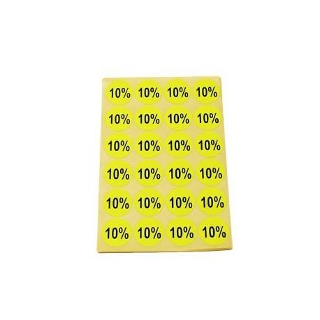 gommettes autocollantes 10% - 3411j