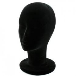 Tête femme polystyrene noire - 1923