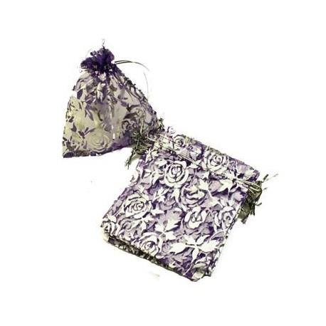 100 bourses organza violettes - 2686