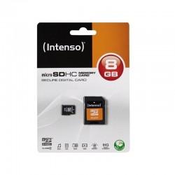 MicroSDHC Intenso 8Go avec adaptateur CL4 - 4850