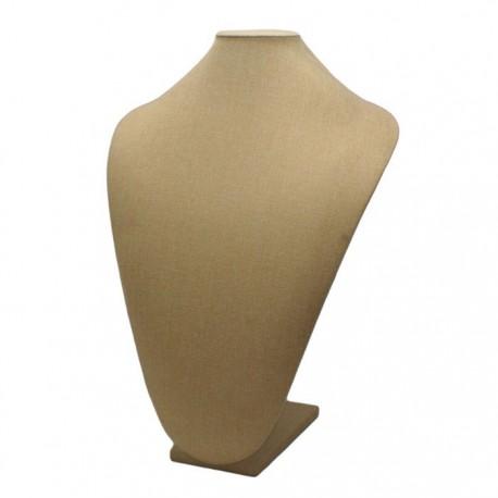 Buste en tissu beige sable - 5028
