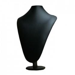 Buste en simili cuir noir - 5029