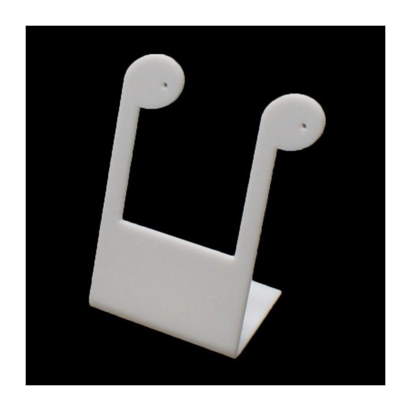 Pr sentoir boucles d 39 oreilles blanc 3100 - Presentoire boucle d oreille ...