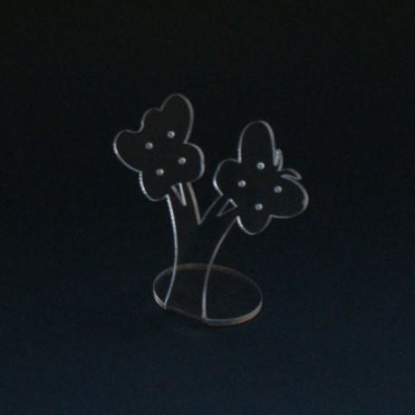 Présentoir à boucles d'oreilles transparent - 5082