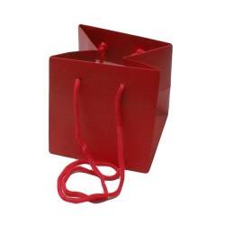 5 sacs pour plante en papier kraft rouge - 5148