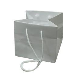Lot de 5 sacs en papier kraft blanc pour bijoux et accessoires - 5153