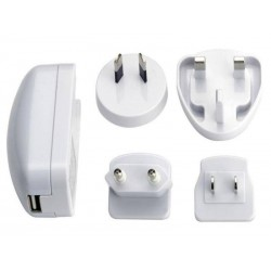 Chargeur universel de voyage Ednet USB (Blanc) - 5258