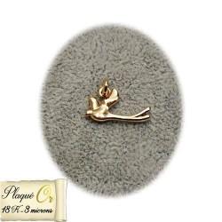 Pendentif plaqué or en forme de colombe - 5184
