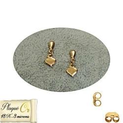 1 paire de boucles d'oreilles pendantes en forme de coeur - 5204