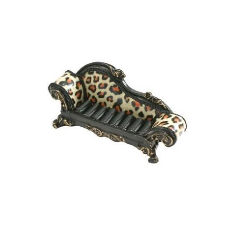 Porte bagues canap noir l opard pr sentoir pour bijoux - Presentoir a bijoux pas cher ...
