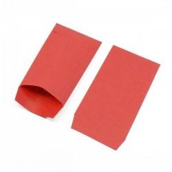 100 pochettes en papier uni de couleur rouge - 5347