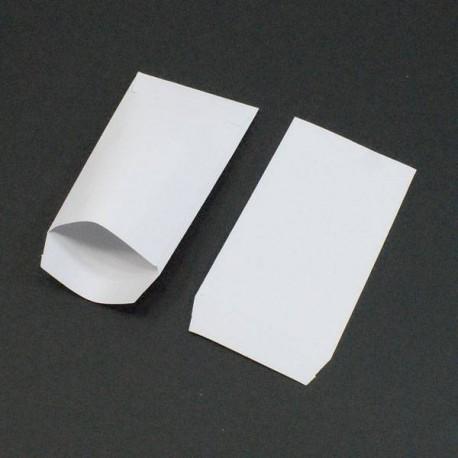 100 pochettes cadeaux blanc uni petit sachet cadeaux blanc pas cher. Black Bedroom Furniture Sets. Home Design Ideas