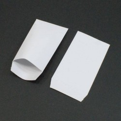 Lot de 100 pochettes cadeaux blanc uni - 5363