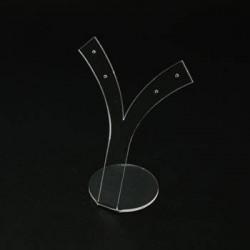 Présentoir à boucles d'oreilles en acrylique transparent- 5460