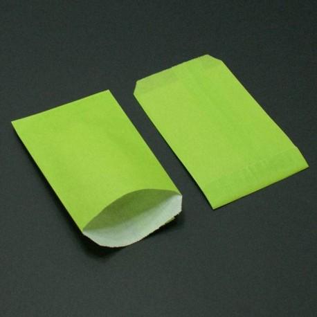 250 sachets cadeaux kraft couleur vert anis - 8014