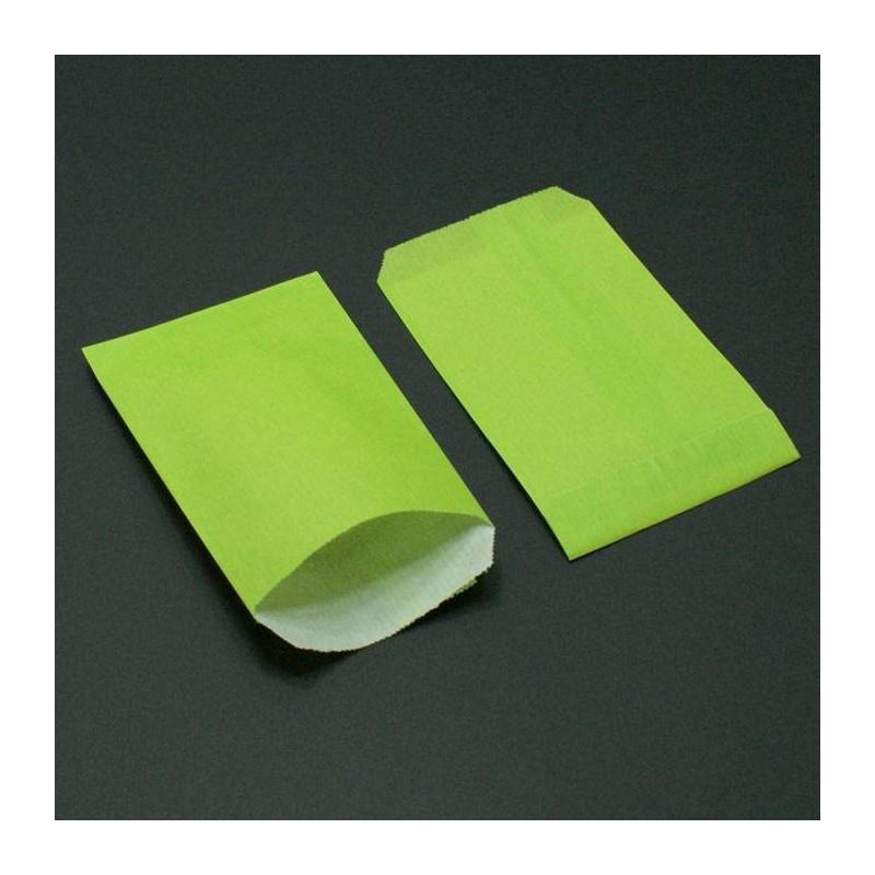 250 sacs cadeaux en papier kraft vert anis pochettes cadeaux pas cher - Image couleur vert anis ...
