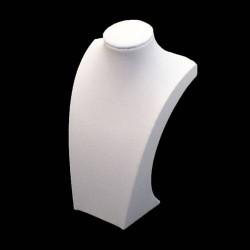 Buste pour collier en simili cuir nblanc 30cm - 5536