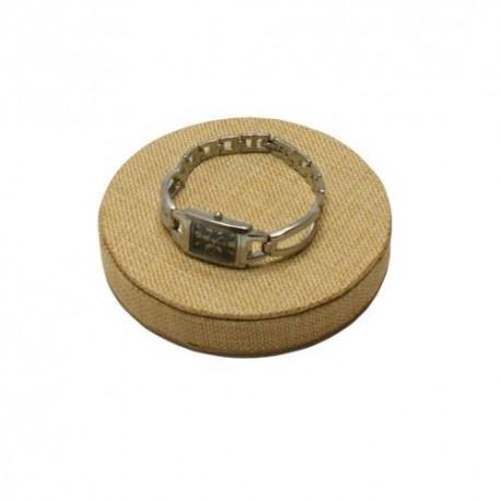 Support de présentation pour bijoux en toile de jute ø 14cm -5648