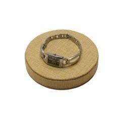 Présentoir à bijoux en toile de jute rond ø18cm - 5650